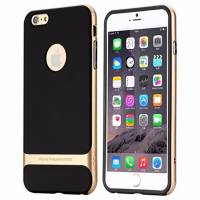 Rock iPhone 6 / 6S Gold Metalik Kenarlı Silikon Kılıf